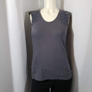 Ann Taylor Crocheted Shoulders Top Size XSP